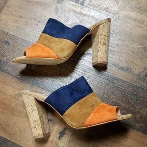 NWOT Vince Camuto Suede Sandals